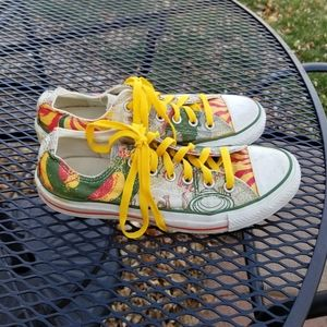 Converse All Star red green yellow art print